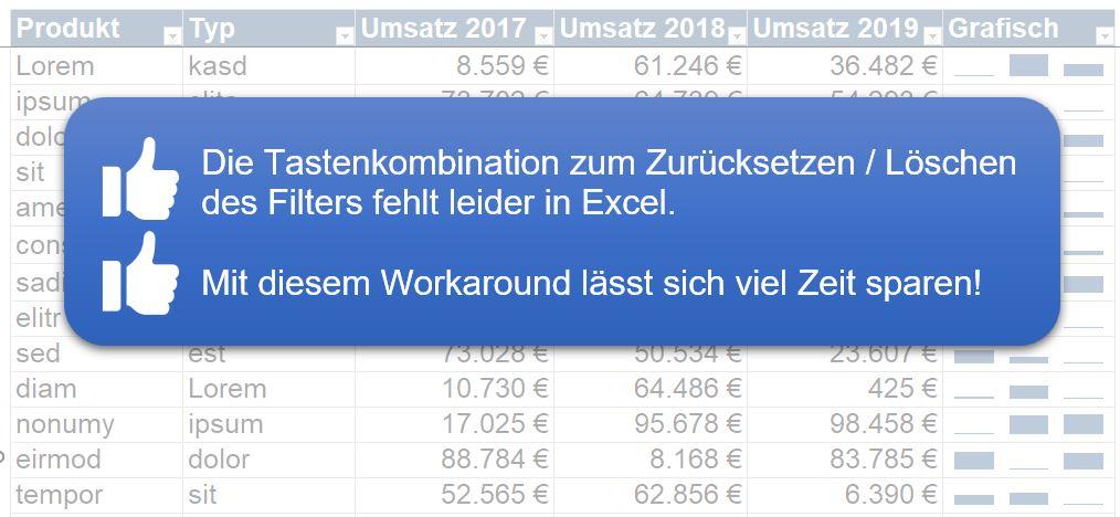 Filter löschen Excel VBA