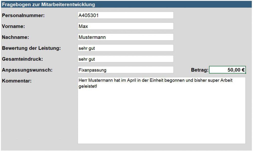 Fragebogenauswertung Excel
