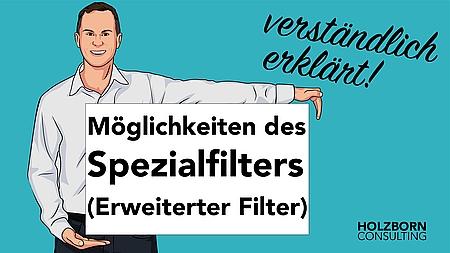 Möglichkeiten des Spezialfilters in Excel