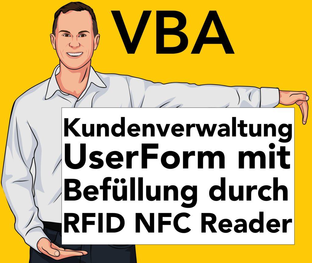 Kundenverwaltung Excel RFID