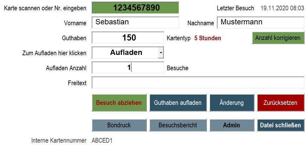 Besuchsverwaltung mit RFID Scan