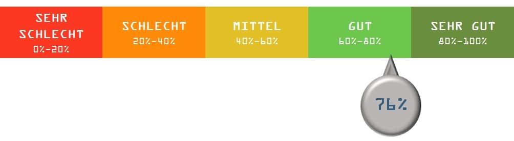 Score Meter Chart | Bar Meter Diagramm | Fortschrittsbalken